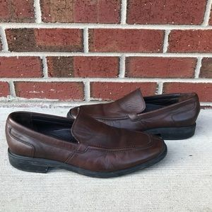 Cole Haan Brown Leather Venetian Loafers 10